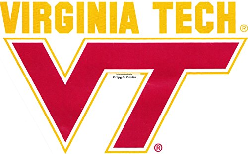 5 Inch Virginia Tech VT Logo Polytechnic Institute and State University VT Hokies Removable Wall Decal Sticker Art NCAA Home Room Decor 5 by 3 Inches