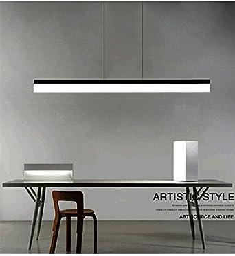 ART LAMPS Lampade a luce LED moderno semplice elegante ufficio, molto luminoso adatto per lavoro camera Home Design a sospensione lampada luce sorgente, alluminio e Plexiglass acrilico soffitto lampada, zona di irradiazione 30 ㎡ sopra. Lenza Lampadario, re