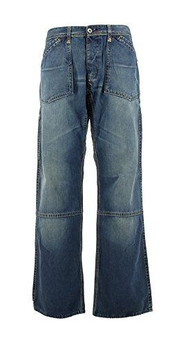 Evisu Herren ES05EMJE25D50BWS04O Blau Baumwolle Jeans