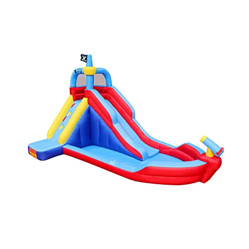 BestParty Pirate Boat Inflatable Water Slide Water-Park Bounce House with ()