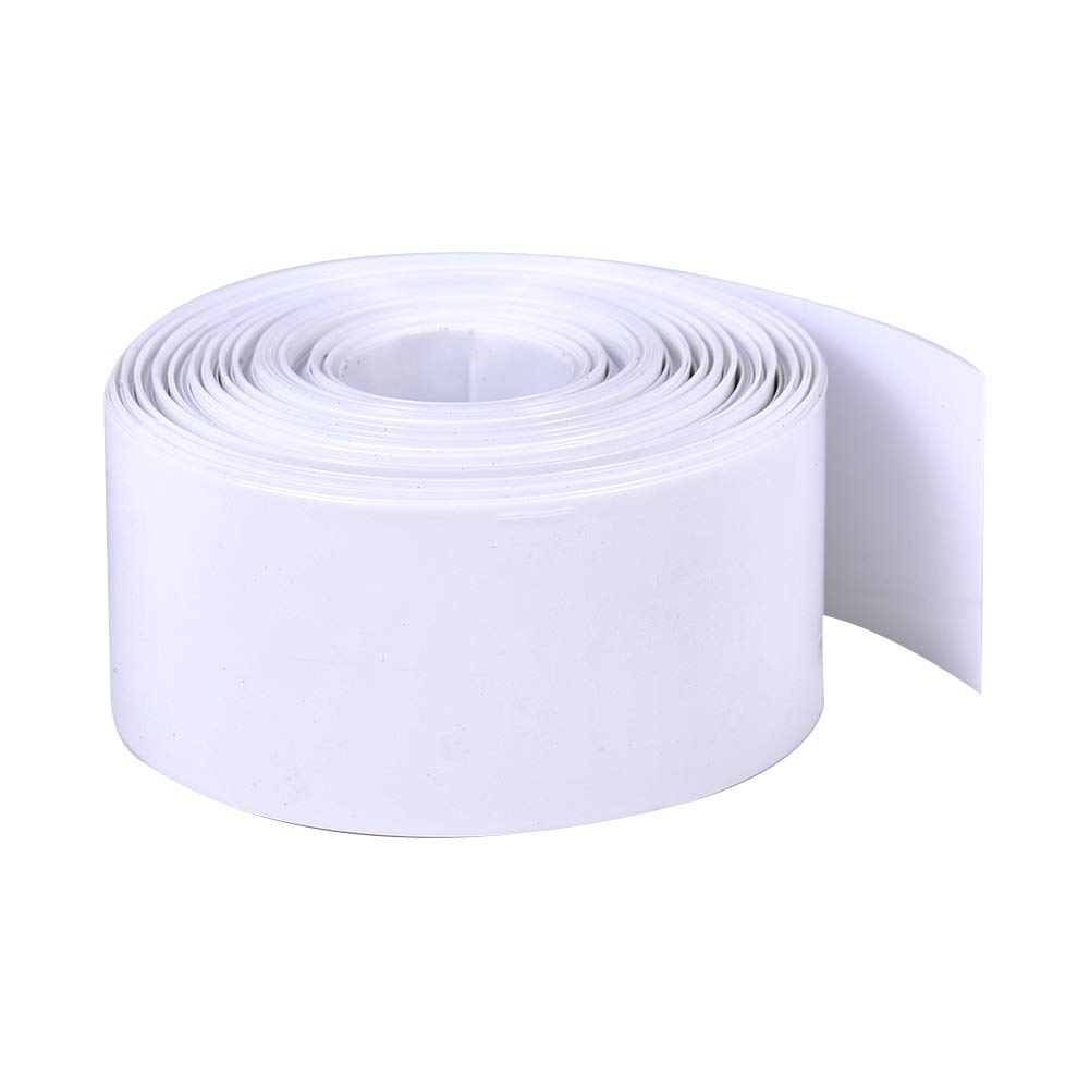 Othmro Battery 1x18650 Heat Shrink Tubing DIY Wrapping Rechargerable Batteries Wrapped PVC Insulation White Jacketing Battery Protector Tube 29.5mm Flat Width 10m Length Wrap for RC Car Batteries