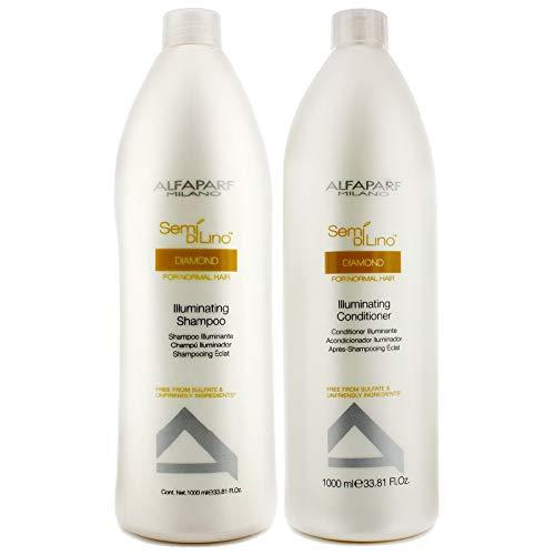 - AlfaParf Semi Di Lino Illuminating Shampoo and Conditioner, 33.8 Ounce
