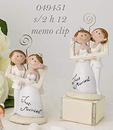 Bomboniere Matrimonio Civile.Married Lei Lei Segnaposto Con Clip Bomboniera Matrimonio Civile