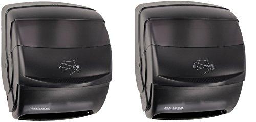 San Jamar T850TBK Black Pearl Integra Plastic Lever Roll Towel Dispenser (2 PACK)