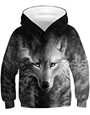 Rave on Friday Unisex 3D Hoodie Kinder Mädchen Jungen Lustig Gedruckt Kapuzenpullover Langarm Sweatshirt mit Kapuzen Pullover Pulli Alter 4-16
