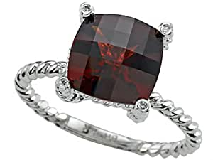 Genuine Garnet Ring by Effy Collection 14kt Size 4