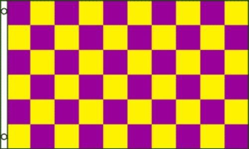 Moon Knives 3x5 Advertising Checkered Checker Purple Yellow
