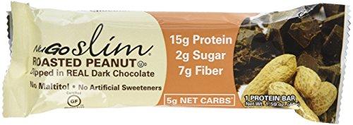 Nugo Nutrition Bar - Bar,Nugo Slim,Rstd Peanut, 12 x 1.59 OZ