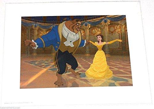 "Disney Lithograph Art Print 11""x14"" Beauty and the Beast Ball Dancing"