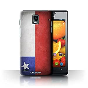 STUFF4 Phone Case / Cover for Huawei Ascend P1 / Chile/Chiliean Design / Flags Collection