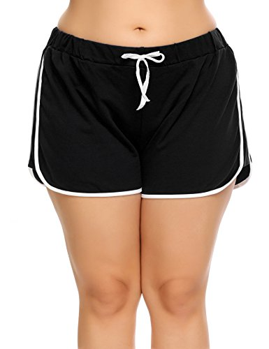 Blenko Women's Plus Size Running Workout Shorts Sports Gym Yoga Shorts Beach Shorts