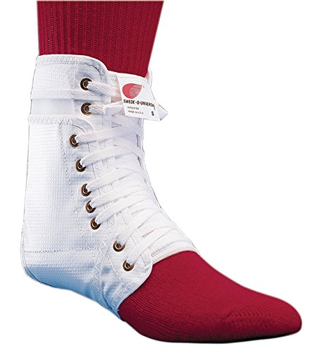 Swede-O Ankle Lok, knit tongue - Med, White w stabilizers - Inner Lok 8 Lace