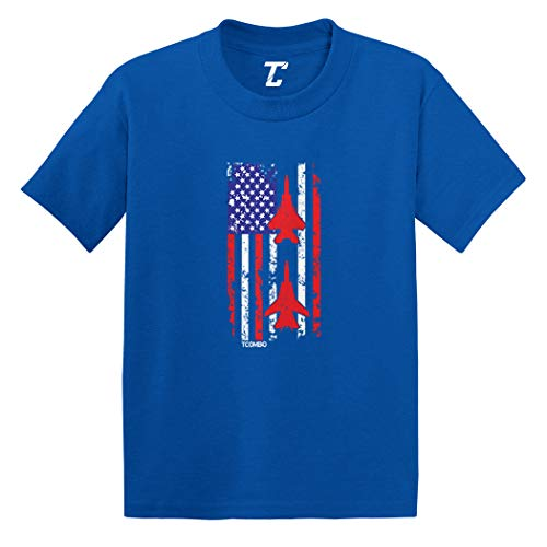 American Flag Jet Stripe - USA Air Show Infant/Toddler Cotton Jersey T-Shirt (Royal Blue, 4T)