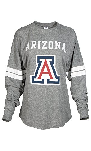 (Official NCAA Arizona Wildcats Women's Striped Oversized Spirit Wear)