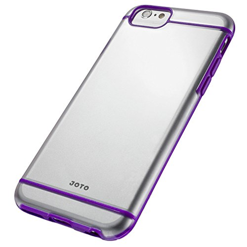 """iPhone 6S Plus/iPhone 6 Plus 5.5 Case - JOTO Slim Fit Hybrid Clear Cover Case (Flexible TPU + Hard PC) for Apple iPhone 6S Plus 5.5"""" / iPhone 6 Plus 5.5"""" (Purple, Frosty, Clear)"""