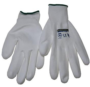 12 Paar Arbeitshandschuhe Latex Strickbund Handschuhe Montagehandschuhe