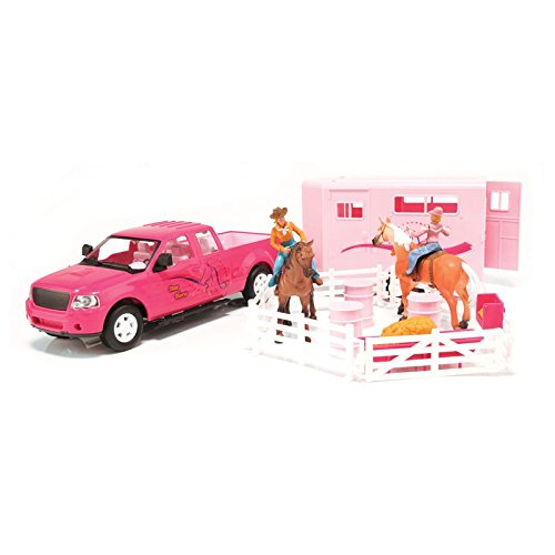 Big Time Rodeo Girls' Bigtime Cowgirl Truck, Trailer and Accessory Set Pink One Size
