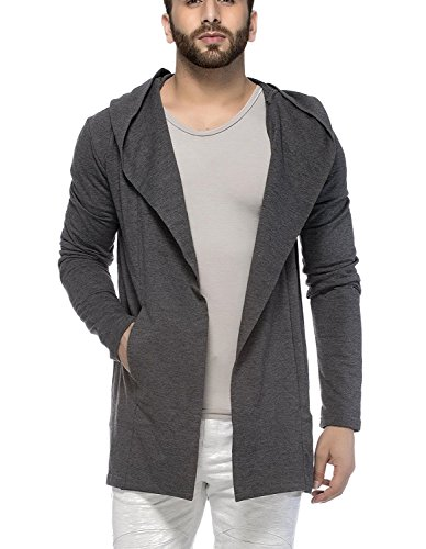 Tinted Mens Cotton Blend Hooded Cardigan  S  Anthera
