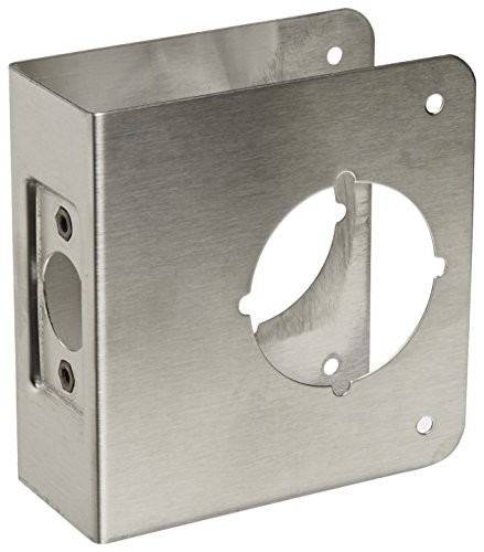 Don-Jo 81-S-CW Classic Wrap-Around Plate, 22 Gauge Stainless Steel , Satin Stainless Steel Finish, 4-1/4
