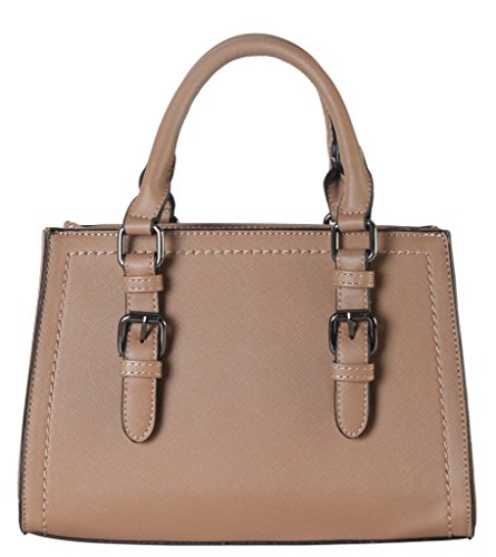 diophy-saffiano-pu-leather-front-buckle-decor-structured-medium-tote-womens-purse-handbag-sz-3798