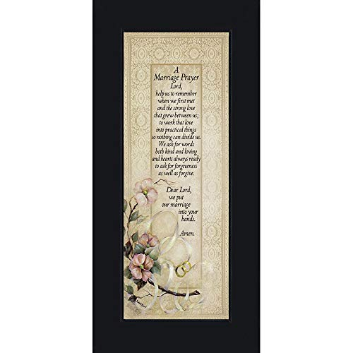 Marriage Prayer, Christian Marriage Gift, Frame Wedding Gift, 6x12 7757BC