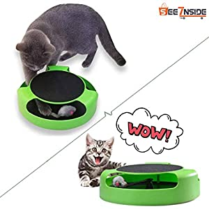 See Inside | Best Interactive Toys for Cats and Other Pats, Running Mice and a Scratching Pad, Catch The Mouse, Catnip, Cat Scratcher Catnip Toy
