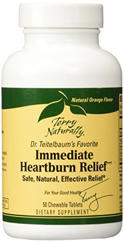 Immediate Heartburn Relief EuroPharma (Terry Naturally) 50 Tab Chewable