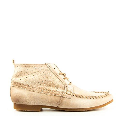 Felmini - Zapatos para Mujer - Enamorarse con Indy 8714 - Botines - Cuero Genuino - Marrón