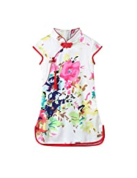 DKmagic Children Kids Girls Embroidery Bowknot Sleeveless Backless Casual Dress Clothes