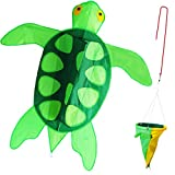 ZHONGRAN Kite Turtle Kite for Kids 41 inch Single Line Easy Flyer 3D Kite with Long Tail One of The Best Kites for The Beach Park and Family Games