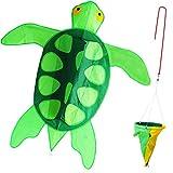 ZHONGRAN Kite Turtle Kite for Kids 41 inch Single Line Easy Flyer 3D