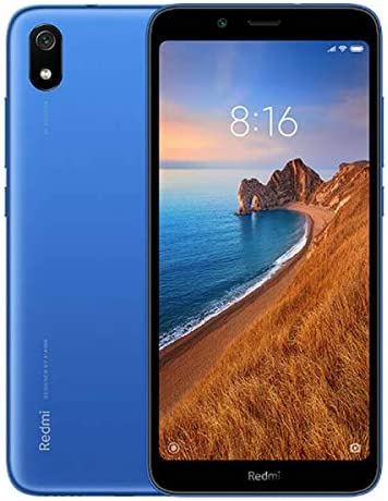 "Xiaomi Redmi 7A (32GB, 2GB RAM) 5.45"" Display, Face ID, Dual SIM GSM Factory Unlocked (US + Global 4G LTE International Model) (Blue)"