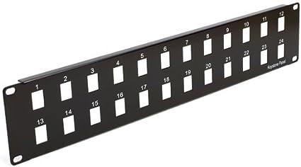 48 Port 19 x 3U Cmple Blank Keystone Patch Panel 29824351