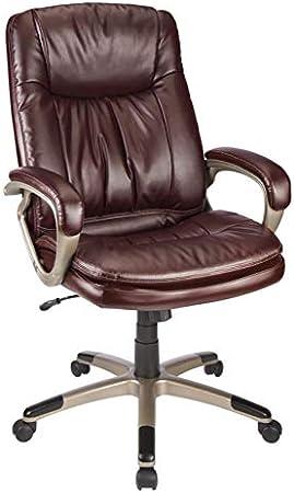 Amazon Com Realspace Harrington Ii High Back Chair Burgundy Champagne Furniture Decor