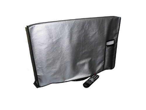 47'' Flat Panel TV Cover with pocket for Remote Vinyl Padded Dust Covers. Ideal for Outdoor Locations. by Viziflex