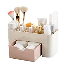 Plastic Cosmetic Container Makeup Organizer Storage Box With Drawers