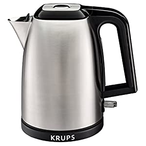 KRUPS BW3110 SAVOY Manual Electric Kettle with Auto Shut Off and Brushed Stainless Steel Housing, 1.7-Liter, Silver