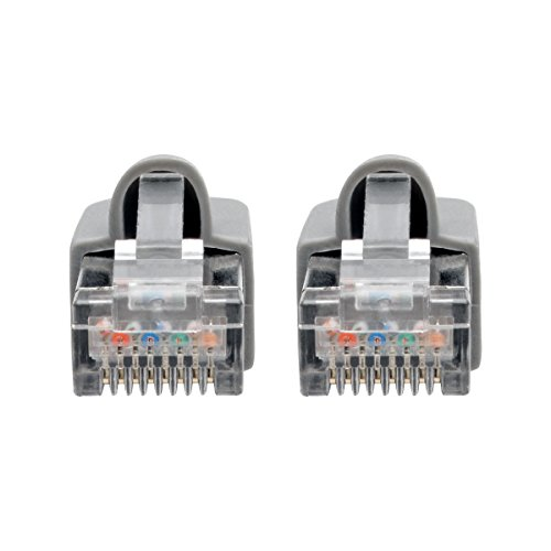 Tripp LITE Cat6a Snagless Shielded STP Network Patch Cable 10G Certified, PoE, Gray, RJ45 M/M 14' (N262-014-GY) by Tripp Lite (Image #2)