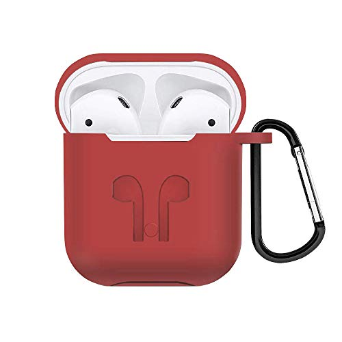 Compatible Airpods Case, AirPods Case Shockproof Case Cover Portable Premium Silicone Skin Cover Case for Apple Airpods 2 & 1 [Front LED Not Visible] -
