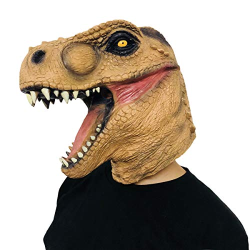 Dinosaur Mask T-Rex Halloween Costume Party Animal Head Latex Jurassic Dino for $<!--$17.99-->