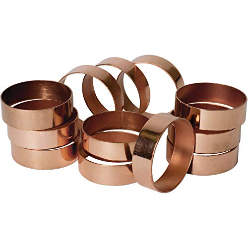 Koyal Wholesale Napkin Ring Metal Bands, Copper Polished, Bulk Set of 12, for Paper Napkin, Cloth Napkin, Wedding Reception, Christmas Party, Thanksgiving Dinner, Restaurant Every Day Use]()