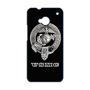 jany store123 store Custom Marine Corps black plastic Case for HTC ONE M7 cover