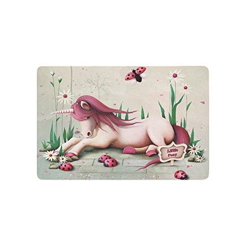 Ladybug Door Mat - AfagaS Fairy Tale Pink Toy Pony Unicorn And Ladybug Rectangle Front Welcome Door Mat Outdoor Indoor Entrance Doormat Durable Heat-Resisting Non-Slip Rug Size 18x30 Inches