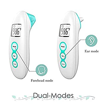 Meikai Ear and Forehead Thermometer -Digital Display Precise/Accurate Forehead& Ear Temperature, Instant