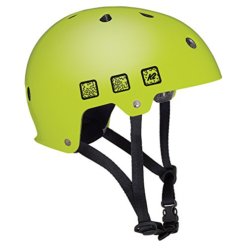 K2 Skate Unisex Jr Varsity Inline Skate Helmet, Matte Lime, Small (Skate In Jr Line Helmet)
