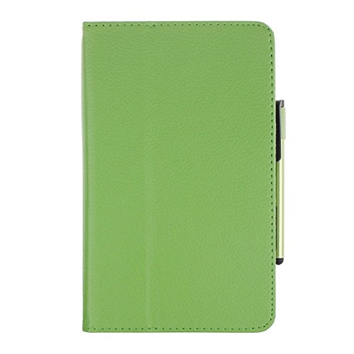 Price comparison product image Galaxy Tab4 Tablet Case[7 Inch], Towallmark Leather Case Stand Cover For Tablet SM-T230/SM-T231 + Film Pen Reel (Green)