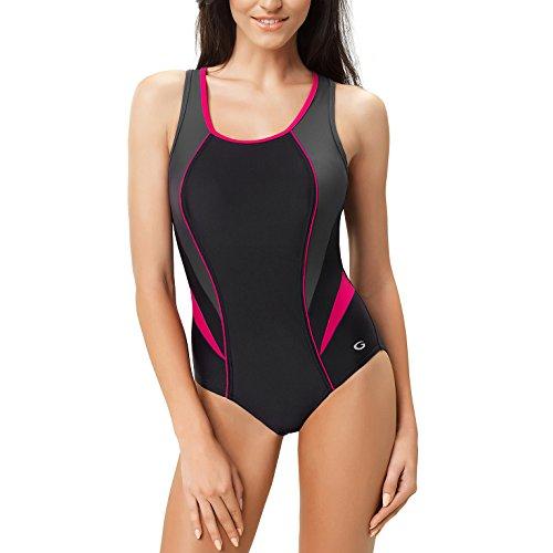 GWINNER Women's Ivana One Piece Padded Athletic Swimsuit - XL - - Racing Swim Wear