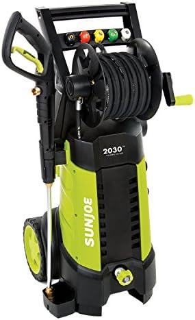 Sun Joe SPX3001 2030 PSI 1.76 GPM Electric Pressure Washer Hose Reel Refurbished