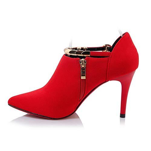 Sandali Donna con 35 Zeppa BalaMasa APL10796 Rosso Red 57ISqxPwx