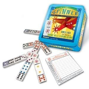 4KIDS Toy / Game Double Dynamic Puremco Spinner - The Classic Game of Wild Dominoes (for Ages 8 Years and - Spinner Domino Game